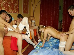 Incredible theme sex party in medical style